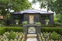 exterior paint black fox (7020) by sherwin williams bedding plants around shaped boxwood idea for backyard