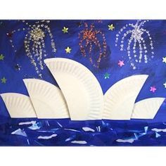 Paper Plate Crafts 486670303463954427 - Sydney Opera House Craft – Thinking Day – Australia Source by solenepa Australia For Kids, Australia Crafts, Sydney Australia, Around The World Theme, We Are The World, Around The World Crafts For Kids, Paper Plate Crafts, Paper Plates, World Thinking Day
