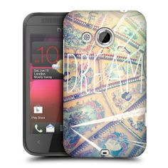 HEAD CASE DREAM POSITIVE VIBE PROTECTIVE HARD BACK CASE COVER FOR HTC DESIRE 200