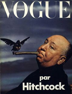 avintagegirlatheart:    Alfred Hitchcock on the cover of Vogue.