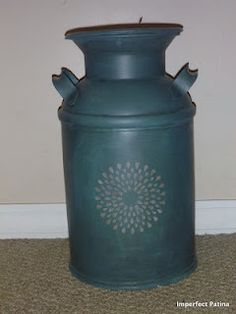 Painted Antique Milk Can