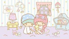 Little Twin Stars Wallpaper 2019 九月桌布 日本官方Twitter睡衣版 Pastel Color Wallpaper, Colorful Wallpaper, Pastel Colors, Little Twin Stars, Little My, Watch Wallpaper, Star Wallpaper, Star Watch, Apple Watch Faces
