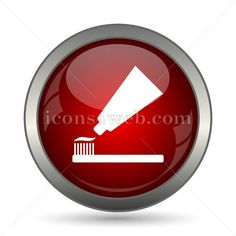 Tooth paste vector icon. EPS10 vector icon designed in high resolution. Stock vector image for web design projects, social media page, presentations,
