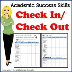 Daily Check In and Check Out Sheet by Carol Miller -The Middle School Counselor | Teachers Pay Teachers