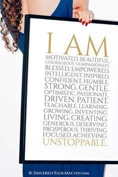 Words of affirmation are for those looking to form new positive mindsets #affirmation #selfcare #mentalhealth #improve #progress #motivational #inspirational #etsywallart Printable Designs, Printable Wall Art, Words Of Affirmation, Working Woman, Positive Mindset, Gifts For Teens, Compassion, Affirmations, Digital Prints