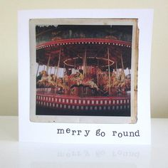 Vintage fairground photography greetings by SycamorePhotography Merry Go Round, Cellophane Bags, White Envelopes, Photographs, Greeting Cards, Vintage Fashion, Frame, Prints, Etsy