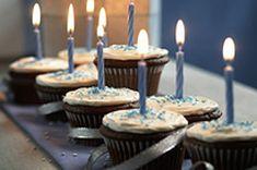 Cupcake Menorah recipe for our Jewish friends! Cupcake Menorah recipe for our Jewish friends! Chocolate Cake Mixes, Chocolate Flavors, Chocolate Cupcakes, Lemon Cream Cheese Frosting, Vanilla Frosting, Buttercream Frosting, Holiday Recipes, Hanukkah Recipes, Hanukkah Food