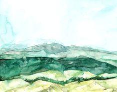 Tower Hills. Aquarela. Rachel Byler