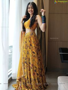 Latest Collection of Lehenga Choli Designs in the gallery. Lehenga Designs from India's Top Online Shopping Sites. Indian Gowns Dresses, Indian Fashion Dresses, Dress Indian Style, Indian Designer Outfits, Designer Dresses, Indian Lehenga, Lehenga Choli, Sabyasachi, Lehnga Dress