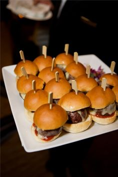 We love late night snacks guaranteed to keep revelers dancing! Mini bistro burgers are a crowd pleaser according to Executive Chef Brooke of @Four Seasons Hotel Boston