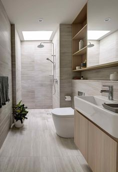 Image 16 of 23 from gallery of Wellington on the Park / FoxJohnston. Photograph by Brett Boardman Bad Inspiration, Bathroom Design Inspiration, Bathroom Design Luxury, Modern Bathroom Design, Toilette Design, Restroom Design, Shower Cubicles, Bathroom Renovations, Bathroom Furniture
