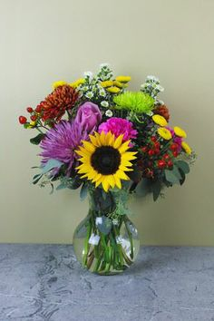 Fall Harvest Bouquet   New Arrangements in store Friday, August  23rd.