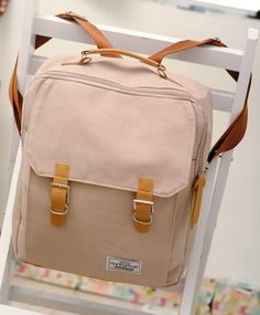 Korean Edition Canvas Backpack for Students