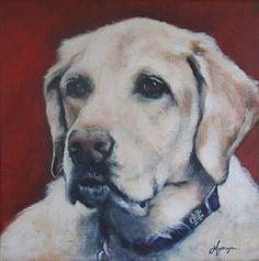 In Memoriam pet portrait painting.