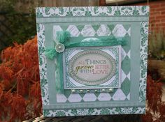 Better With Love Card - Scrapbook.com - So beautifully done. #scrapbooking #cardmaking #echopark #websterspages #prima