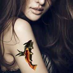 HJLWST 5Pcs 3D Waterproof Color Fish Pattern Tattoo Stickers *** Continue to the product at the image link. (This is an affiliate link and I receive a commission for the sales)