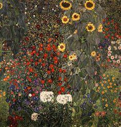 Деревенский сад с подсолнухами, 1905-1906, Вена, австрийская галерея   Густав Климт