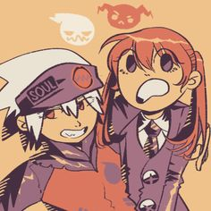 """Soul and Maka. """"These kids are honestly all my faves. Except 4 u ragnarok u go die in a hole. Soul Eater, Soul And Maka, Anime Soul, Anime Life, Fullmetal Alchemist, Sailor Moon, Sailor Jupiter, The Ancient Magus Bride, Card Captor"""