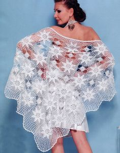For the contemporary bride, this hand knit crocheted wedding shawl is the ideal accessory for a bride or even her Crochet Poncho For Women - Crochet Lace So-Fine The clear pattern of this Shawl (both written and graphic) + 21 So Fine Designs are in: Crochet Cape, Crochet Scarves, Crochet Clothes, Knit Crochet, Crochet Geek, Hand Crochet, Pink Rose Croche, Crochet Shawls And Wraps, Lace Shawls