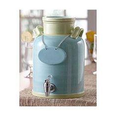 cute beverage dispenser for a vintage or offbeat wedding!