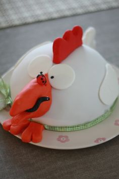 Gâteau d'anniversaire poule mousse au chocolat - birthday funny cake chicken chocolate mousse