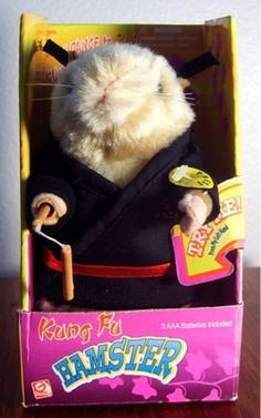COLLECTORS New in Box Kung Fu Karate Hamster.  Dancing, Singing, Fighting Animated Plush.  Free Shipping. $34.99