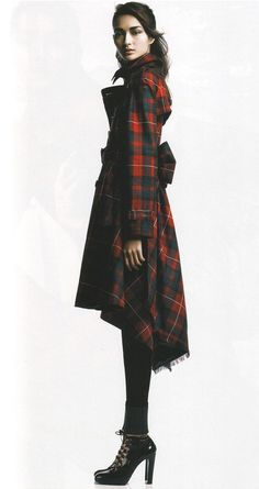 vogue and coffee — tartan obsession for Fall.