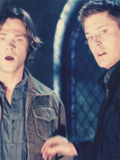 """[GIF] This has always been one of my favorite moments. That moment where they both grab for the other and then, """"Sam"""", """"Dean""""."""