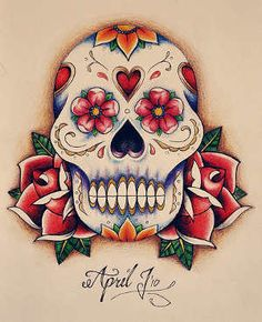 Sugar skull. So pretty
