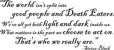 Wall Decal-Harry Potter Quote by Sirius Black