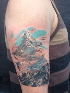 Lonely Mountain Hobbit tattoo. | Tattoos | Pinterest