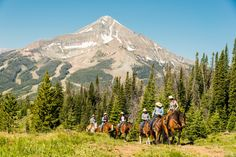 Our horse program provides opportunities to ride in the National Forest with our experienced guides. It is a great place to experience the thrill of #horsebackriding in Montana.