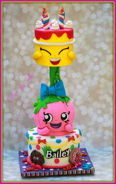 Shopkins Birthday Cake.