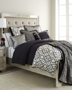 black and white couture bedding http://rstyle.me/n/r63ymr9te