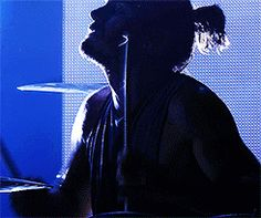 my gifs 30 Seconds To Mars Thirty Seconds to Mars shannon leto 2013 itunes festival emptying my drafts beast on the drums samurai bun porn