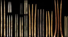 Sewing Needles Reveal the Roots of Fashion. Humans have crafted garments for more than years—and prehistoric tools suggest that warmth wasn't their only concern. Sewing Tools, Sewing Notions, Sewing A Button, Hand Sewing, Flame In The Mist, Paleolithic Period, Aesthetic Revolution, Linear Pattern, Sewing Needles