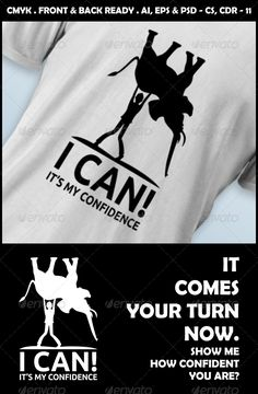 #I #Can! #Confidence #T-Shirt Design - #Designs #T-Shirts Download here: https://graphicriver.net/item/i-can-confidence-tshirt-design/4800908?ref=alena994