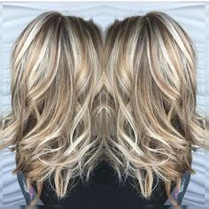 Image result for short brown hair with heavy blonde highlights