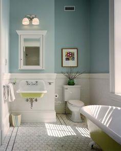 Bathroom paint colour with white tiles
