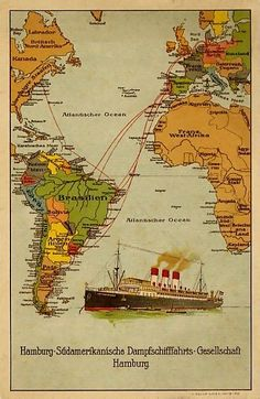 Vintage Italian Posters, Vintage Travel Posters, Titanic Ship, South America Map, America Memes, Vintage Boats, Map Wallpaper, Nautical Art, Worldwide Travel
