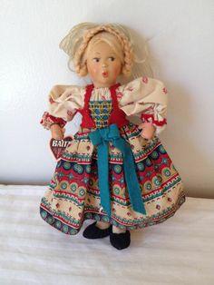 """Vintage 9"""" Baitz Dolls Made in Austria"""