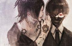 Uta and Kaneki <--- UTA GET YOUR GODDAMN HANDS AWAY FROM MY PRECIOUS KANEKI YOU CRUEL LYING SON OF A BITCH