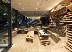 Gurunavi's Shun Shoku Lounge in Osaka Designed by Kengo Kuma