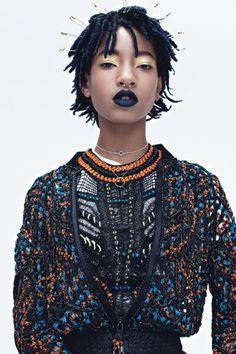 Maquillaje la labios con Willow Smith #maquillajedelabios