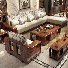 Home Design Living Room, Bedroom Furniture Design, Bed Furniture Design, Sofa Bed Design, Wooden Sofa Set Designs, Sofa Design Wood, Wooden Sofa Designs, Furniture Design Wooden, Living Room Sofa Design
