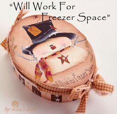 Will work for freezer space Christmas Wood, Christmas Baby, Christmas Snowman, All Things Christmas, Christmas Ornaments, Snowman Crafts, Holiday Crafts, Painted Wooden Boxes, Tole Painting Patterns