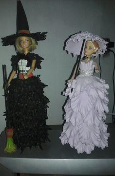 Bonecas vestidas em eva