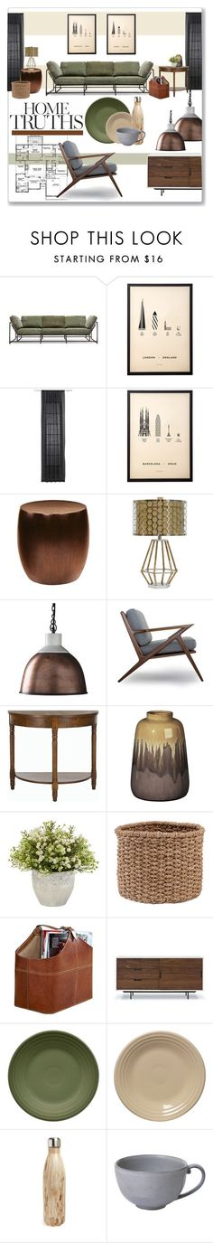 """VIA-home"" by jckallan on Polyvore featuring interior, interiors, interior design, home, home decor, interior decorating, me&him&you, CB2, Palecek and Dot & Bo"