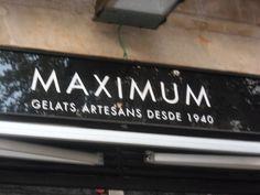 Heladería MAXIMUM, La Rambla, Barcelona.