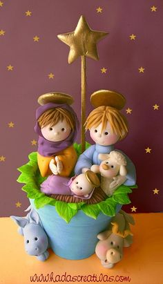 Geraldine Gabasa | Nativity in polymer clay.